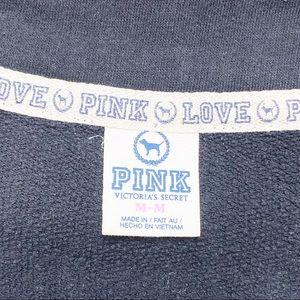 PINK Victoria's Secret Tops - • Pink Victoria's Secret Black Half Zip Sweatshirt